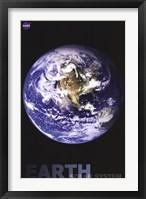 Framed Earth Solar System NASA