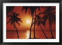 Framed Caribbean Sunset
