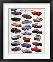 Framed American Cars