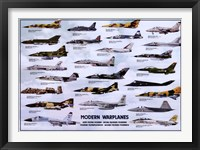 Framed Modern Warplanes