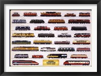 Framed Modern Locomotives