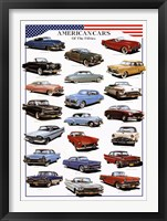 Framed American Cars of the Fifties