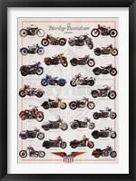 Framed Harley Davidson Legend