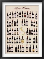 Framed Italian Red Wines