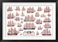 Framed Merchant Sailing Ships