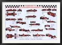 Framed Ferrari F1 World Champions