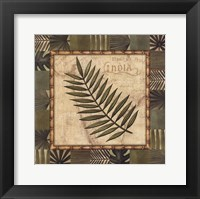 Framed Tropical Leaf I