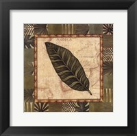 Framed Tropical Leaf III