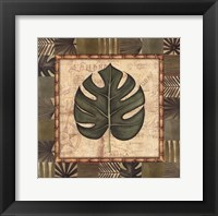 Framed Tropical Leaf IV