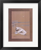 White Dinghy Framed Print