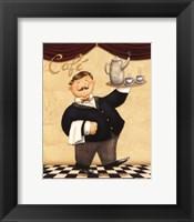 Waiter - Cafe Framed Print
