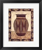 Framed Tribal Urn I