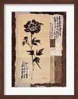 Framed Zen Peonies