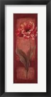 Red Door Tulip Framed Print