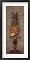 Pineapple and Pearls II Framed Print