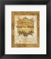Cotes du Rhone Framed Print