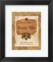 Beaujolais Village Framed Print