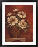 Framed Villa Flora Peonies