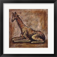 Framed Safari Giraffe