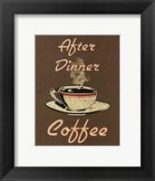 After Dinner Framed Print