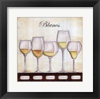 Framed Les Vins Blancs