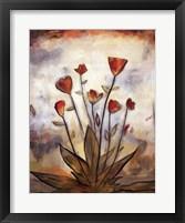 Framed Poppy Garden I