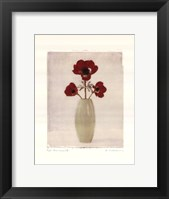 Framed Red Anemones IV