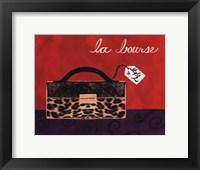 Leopard Handbag I Framed Print