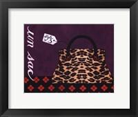 Leopard Handbag III Framed Print