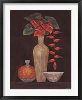 Framed Red Anthuriums
