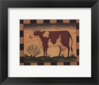 Framed Farm Cow