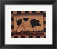 Framed Farm Pig