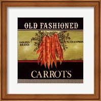 Framed Old Fashioned Carrots