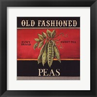 Old Fashioned Peas Framed Print