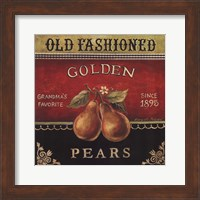 Framed Golden Pears