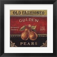 Golden Pears Framed Print