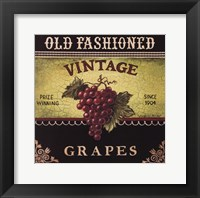 Vintage Grapes Framed Print