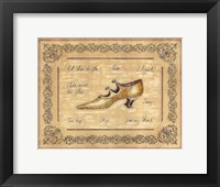 Framed Dancing Shoe