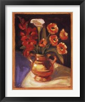 Framed Poppy  Calla Lily