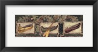 Framed Three Canoes