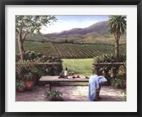 Framed Overlooking the Vineyard