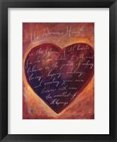 Framed Generous Heart