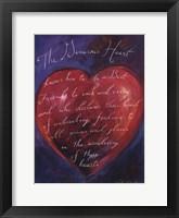 Framed Red Heart