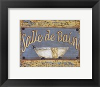 Salle De Bain Framed Print