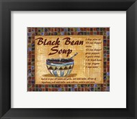 Black Bean Soup Framed Print