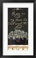 Framed As for Me and My House