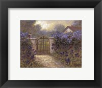 Iris Gate Framed Print