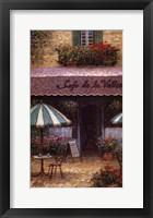Framed Cafe De La Vallee