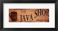 Framed Java Shop