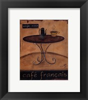Framed Cafe Francais